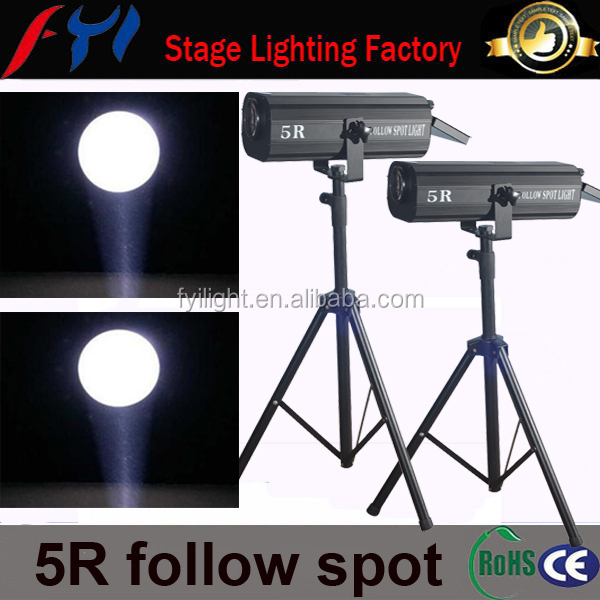 2015 exellent items in china market 5R follow spot stage lighting by electric control