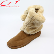 China factory price women flat fashional ladies casual shoes snow boots