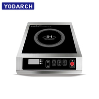 Button Control Power Temperature Timer Perfect Commercial Induction Cooktop Cooker 220V 240V 110V