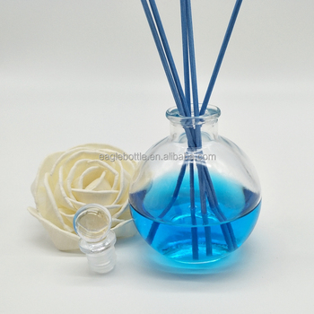 120ml clear glass aroma diffuser bottle perfume glass reed diffuser bottle wholesale