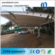 6 cars steel frame membrane tensile outdoor car shades