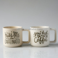 Fashion customized printed promotional ceramic cup/ceramic coffee mug