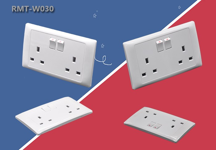 New Design UK Electrical Outlet With Switch Wall Power Socket UK 13 Amp Socket