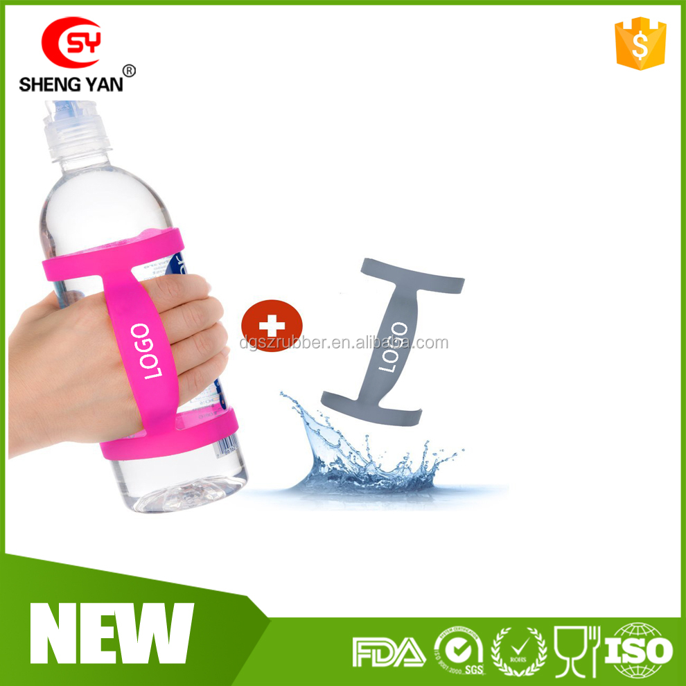 Universal Silicone Water Bottle Carrier/Handle Grip,Cup Strap,Stretchable Bottle Holder Strap