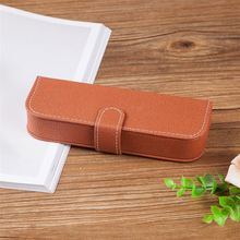 XingHao pen industry logo printed elegant leather pen case from manufacturer