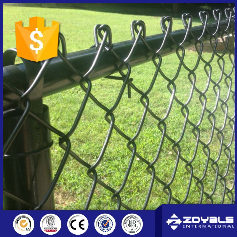 2016 Customized 10 Gauge Black Vinly Galvanized Steel Pipe Used Chain Link Fence