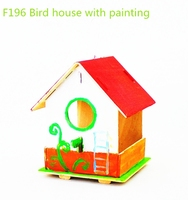 Wholesale wooden outdoor bird house toys
