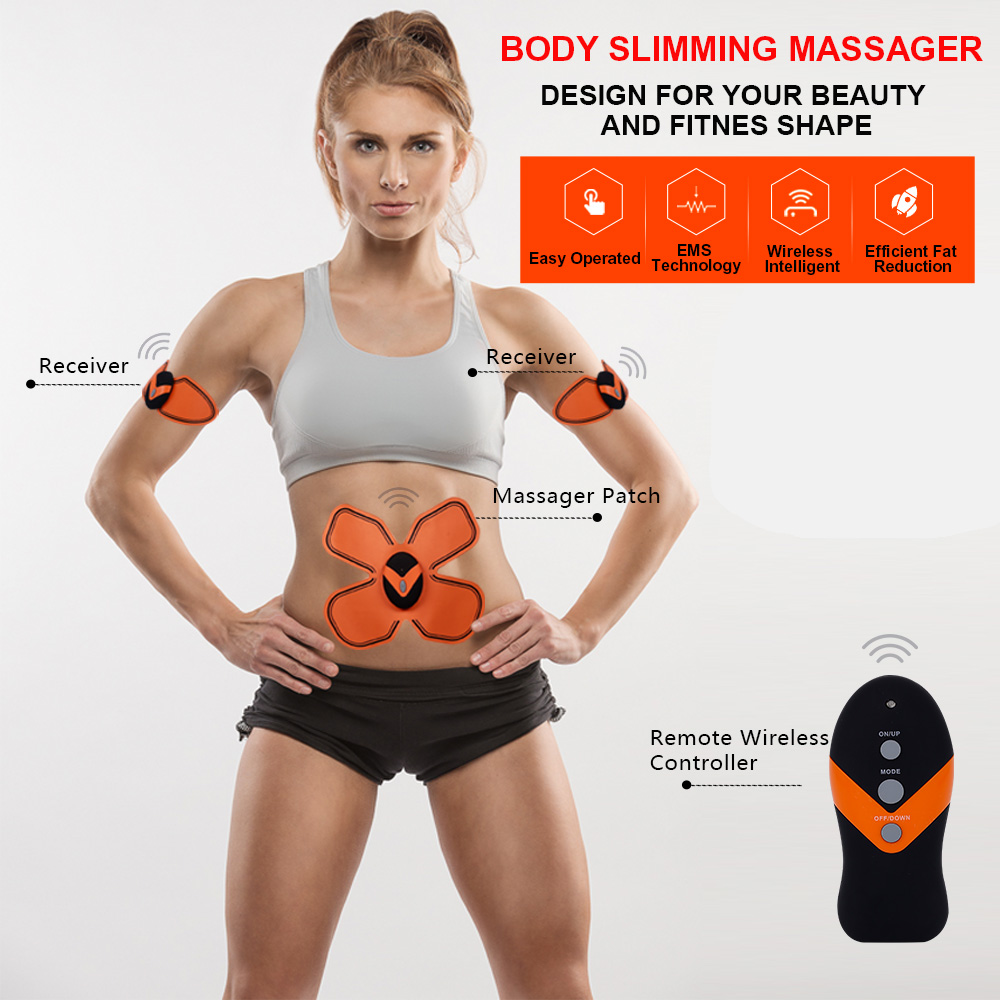 Ems Muscle Stimulation Machine Wireless Electric Body Massager Machine Slimming
