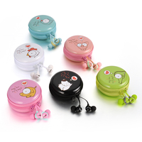 2016 KeeKa EE-39 In-Ear headphone with storage case,colourful earphone with mic