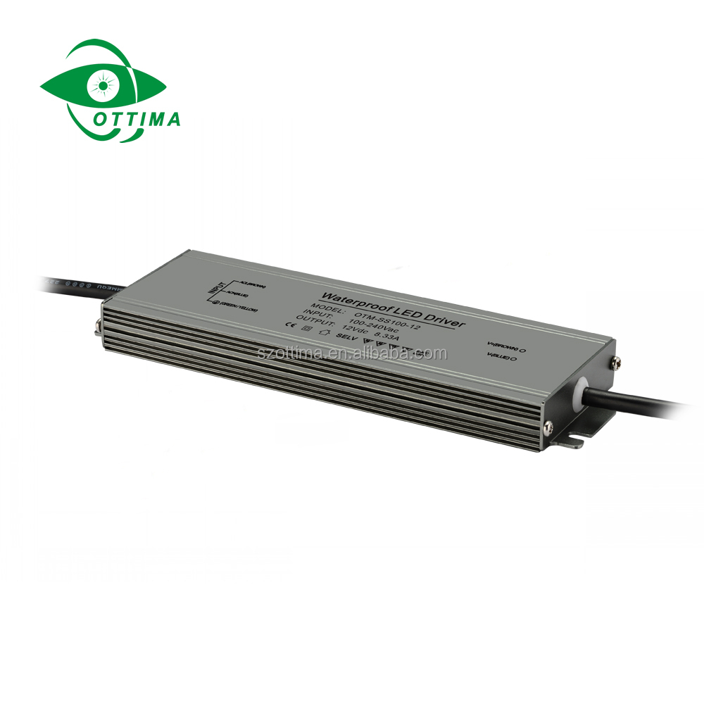 120W Waterproof driver for Strip Lights IP67 Slim Outdoor led power supply