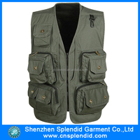 Multi Pockets Zipper Men Waistcoat Fishing Photography Leisure Thicken Sleeveless Vest