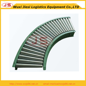 curved roller conveyor of 90 degree,turning roller conveyor