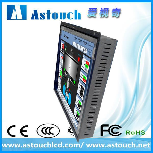 cheapest 15 inch open frame lcd monitor for cnc machine with projected capacitive touch