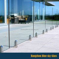 Fencing panel Clear toughened glass with Australian standard