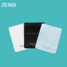 Qingdao JTD Manufacturer Supplies Wholesale Custom Matte Printed Plastic Aluminum Foil Small Sachet For Drip Coffee Packaging