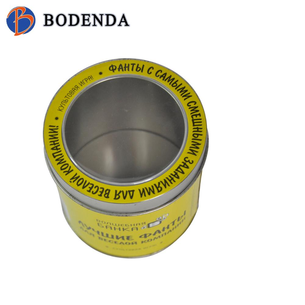 cosmetic packaging tin box with pvc window