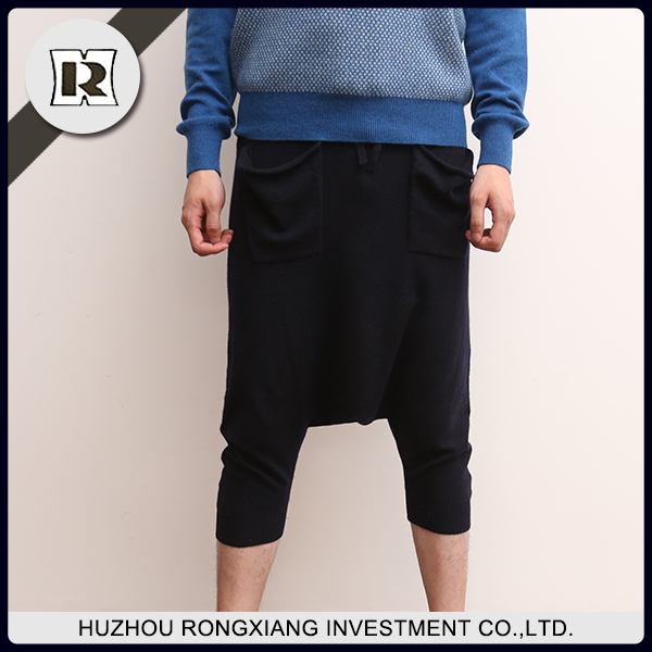 wholesale thick navy fashion wool cashmere trousers pants for man