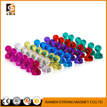 new products 48 Acrylic Magnetic Push Pins Assorted Colors Perfect Magnet set for Fridge