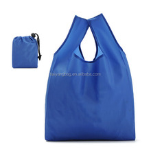 190T 210T custom folding reusable supermaket shopping bag handbag bags with custom logo