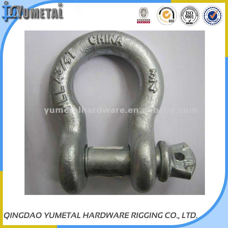 Hot Dipped Galvanized US Type Bow Shackle