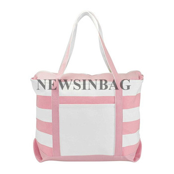 NEWSINBAG China Custom Logo Promotion Zipper Grocery Shopping 8OZ Canvas Make Up Tote Cotton Bag