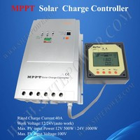40A PV Charge Controller MPPT, 12V 24V Solar Controller Regulator, Power Supply 24V Controller