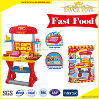 Educational non-toxic pretend play plastic emulation kitchen toy set with music