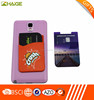 phone decoration Silicone mobile phone case card holder wallet