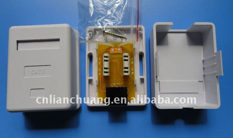surface mount box with rj45 jack