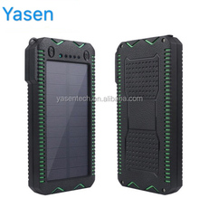 Solar Power Bank 20000mAh External Battery Portable Cigarette lighter for Mobile phone