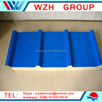 ISO cetificated container roof panel rock wool sandwich panel from china supplier