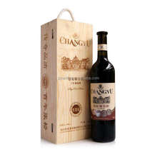Custom made burn hot stamp logo single bottle wooden wine packaging box