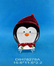 2015 Christmas decoration penguin cookie/candy/pie plate
