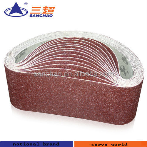 Metal abrasive sanding belt for sander