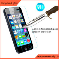 factory price 9h 2.5d explosion -proof tempered glass screen protector for iphone 5 5s