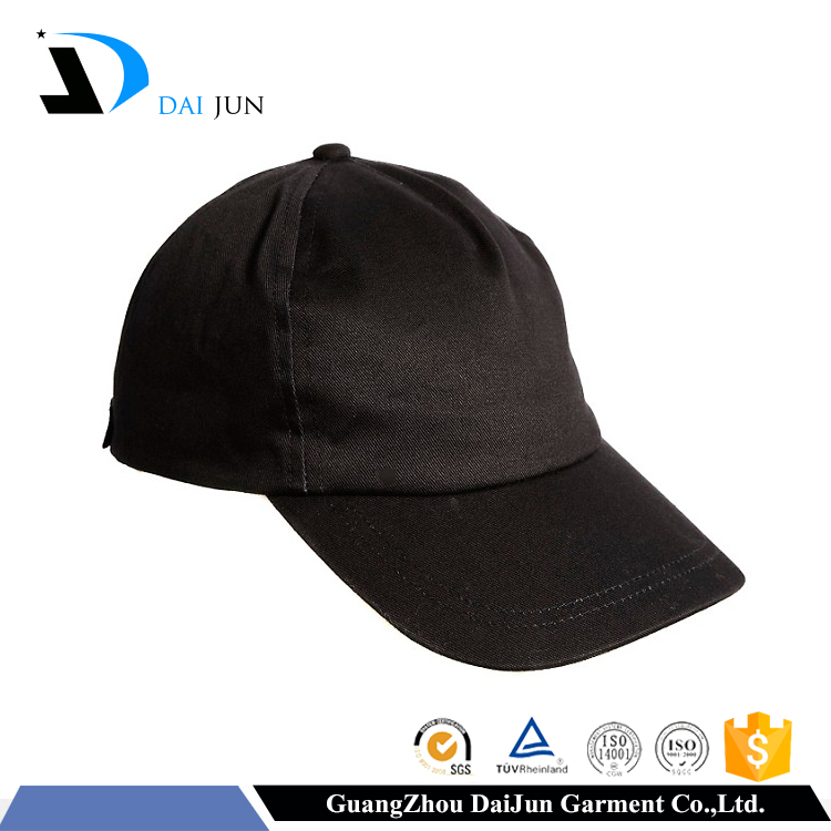 China factory OEM high quality hot sale metal closure breathable sports plain black twill acrylic custom golf hat