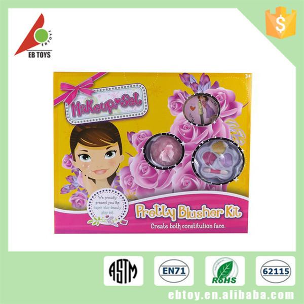 Pretty children facial cosmetics toys blusher kit kids makeup toy