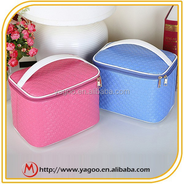 High Quality beautiful pu cosmetic bag for Women and lady
