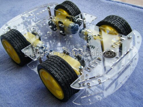 4WD Smart Robot Car Chassis Kits with Speed Encoder New smart car chassis