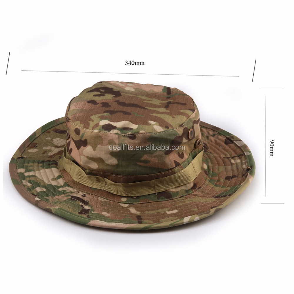 Handsome Camouflage Hat Men's Military Wide Brim Cap Hunting Fishing Outdoor