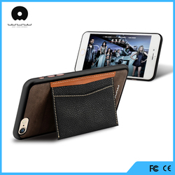 OEM ODm cell phone support pu leather case for iPhone 6, for iphone 6 case cover