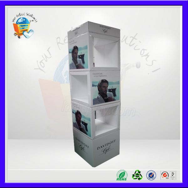 ubique paper floor display ,tyre recycl stand ,u shape corrugated display case