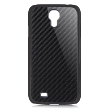 For SamSung I9500 Weaving Solid Color Carbon Fiber phone case, cell phone carbon fober cover