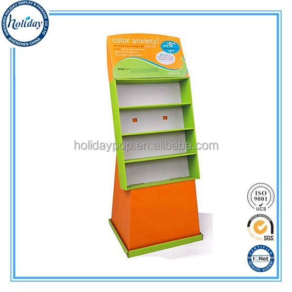 Single-sided Feature And Light Duty Style Supermarket Retail Floor Display Stand For Tiles