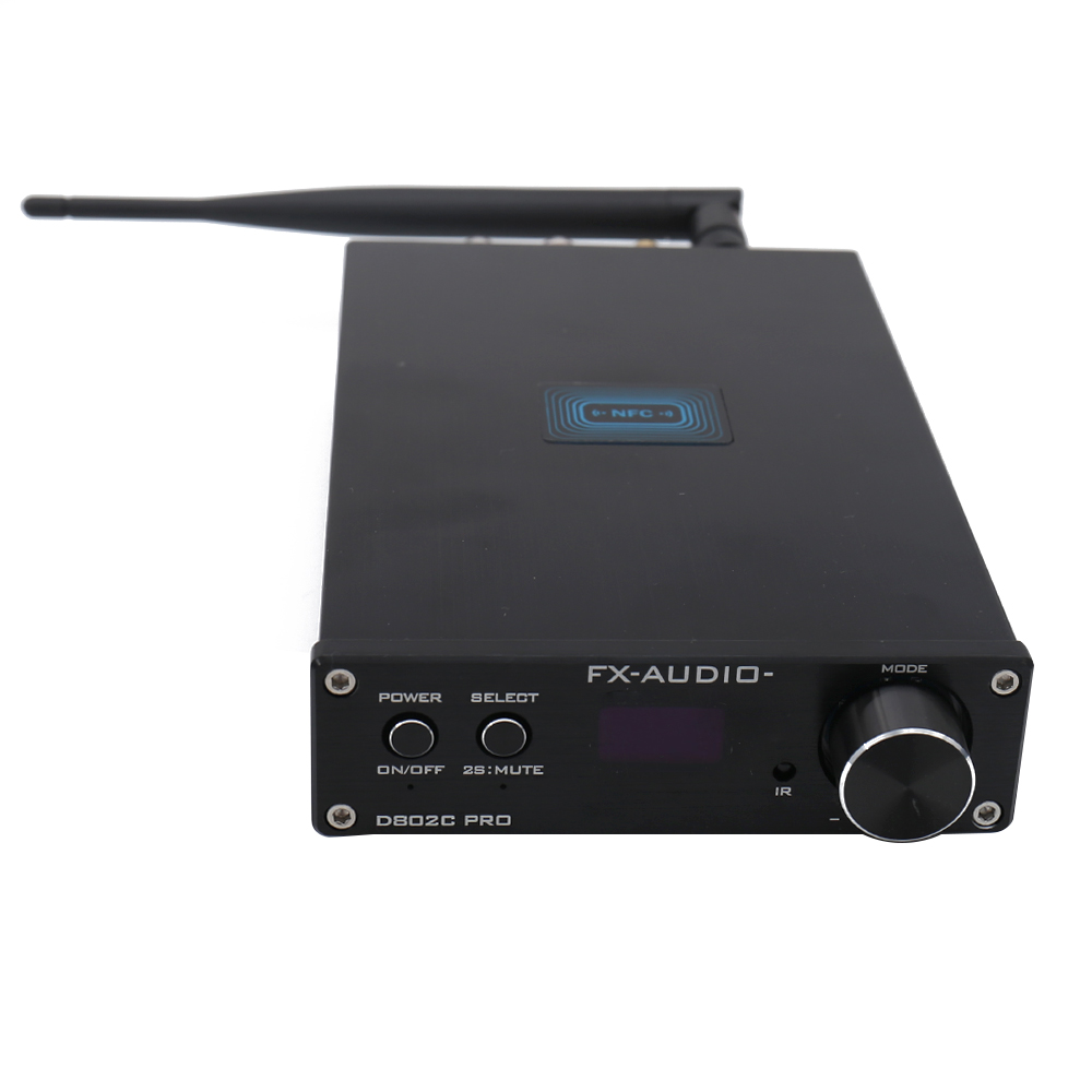 FX Audio D802C PRO Pure Digital Amplifier Wireless Bluetooth USB/AUX/Optical/Coaxial Support APTX NFC Digital Amplifier