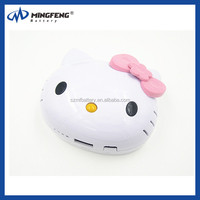 portable 8000mah hello kitty power bank for mobile phone