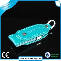 promotion gift 8gb leather swivel usb with your logo