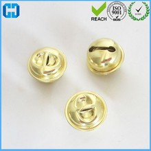 High Quality Raw Brass Jingle Bells Charm Findings in Gold