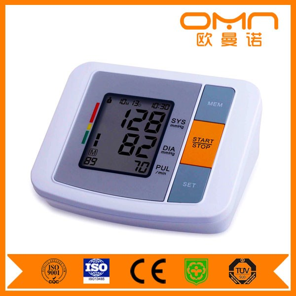 Full Auto upper arm electronic digital blood pressure monitor with cuff