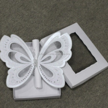 Luxury 3D Butterfly Scroll Wedding Invitation with Box